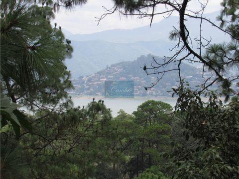 terreno en avandaro con vista al lago