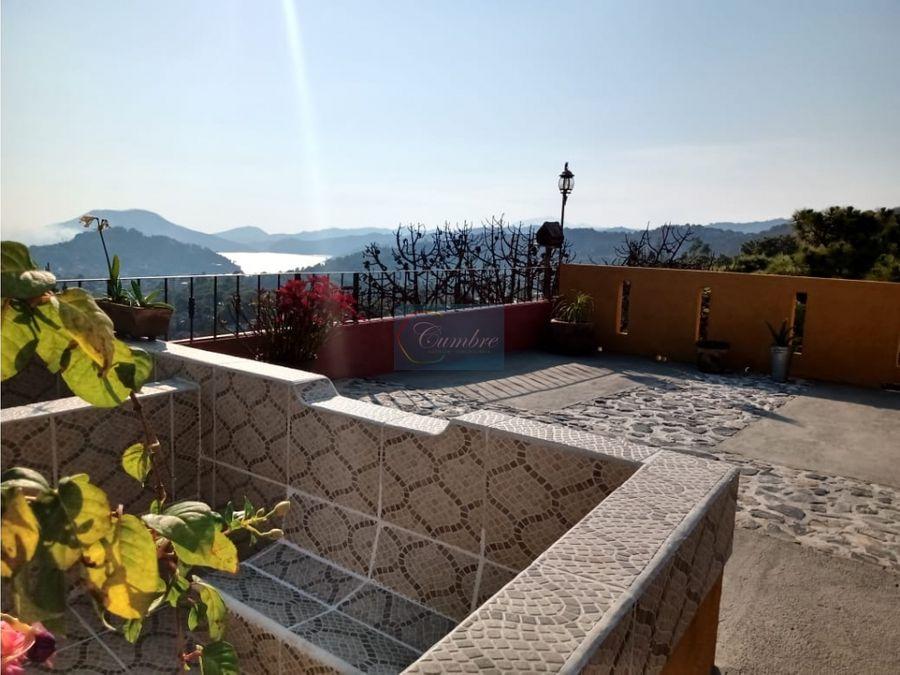 casa renta con vista al lago
