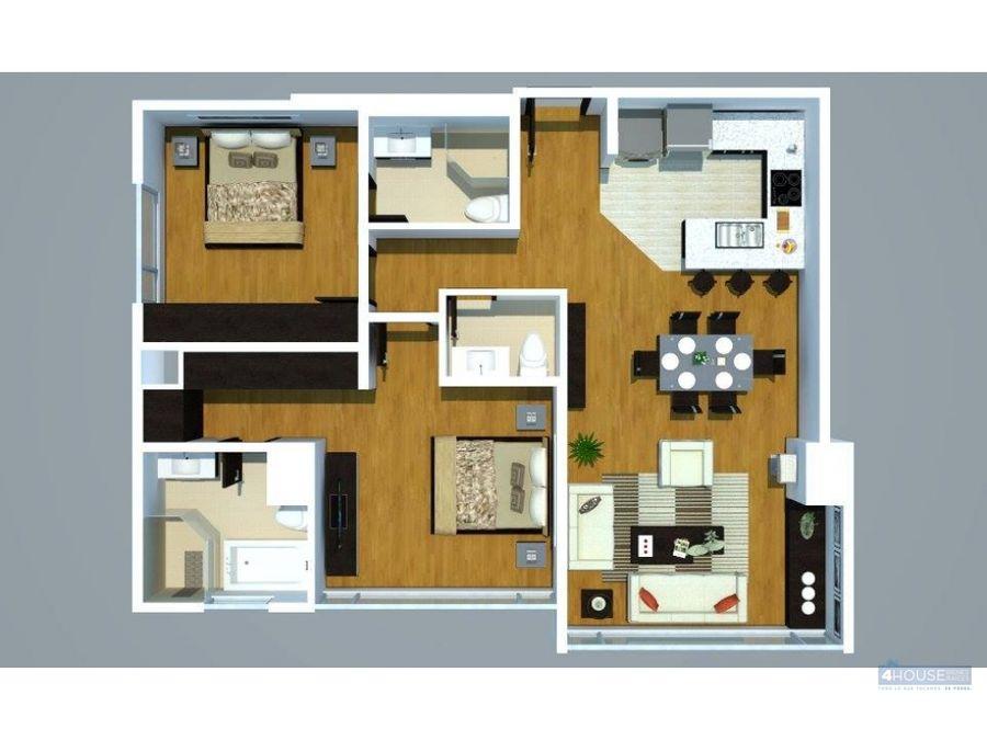 departamento de 2 dormitorios en torres del bosque