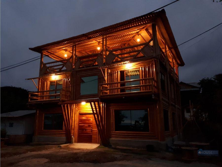 hotel en venta en playa bellavista canton jama en manabi