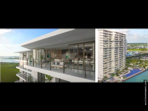 lujoso departamento en venta en puerto cancun