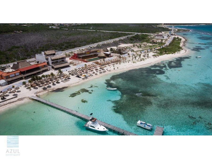 hotel en venta en mahaual frente al mar