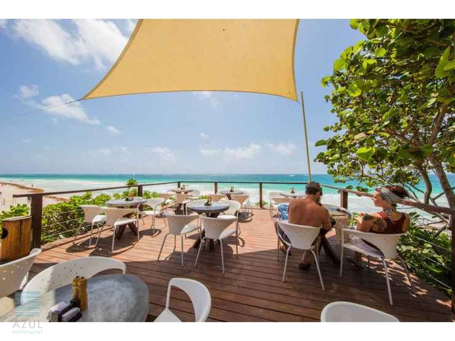 terreno hotelero beach front tulum