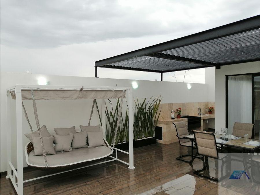 casa en venta con roof garden en zakia el marques queretaro gaa