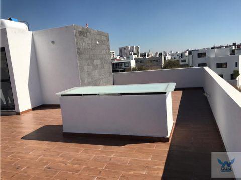 casa en renta en el refugio con roof garden el marques queretaro gaa