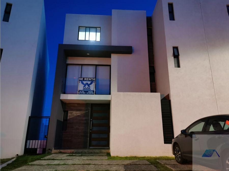 casa en renta amueblada con roof en zibata el marques queretaro gaa