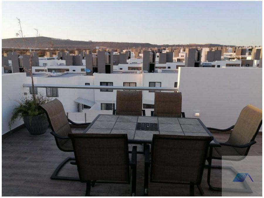 casa en venta con roof garden en zakia el marques queretaro gas