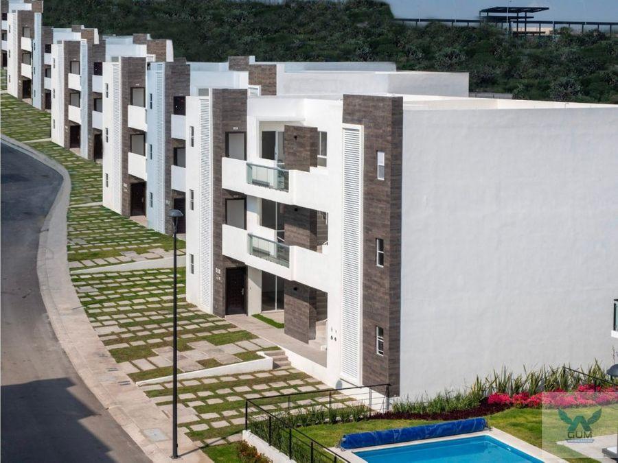 departamento con roof garden en venta en zakia el marques queretaro