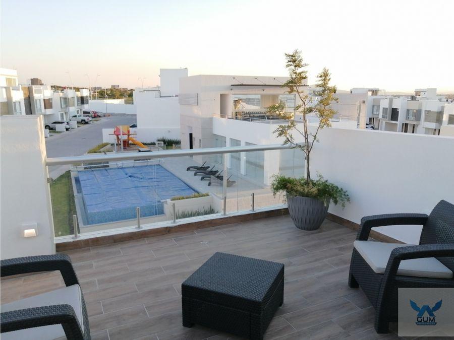 casa en venta con roof garden en zakia el marques queretaro