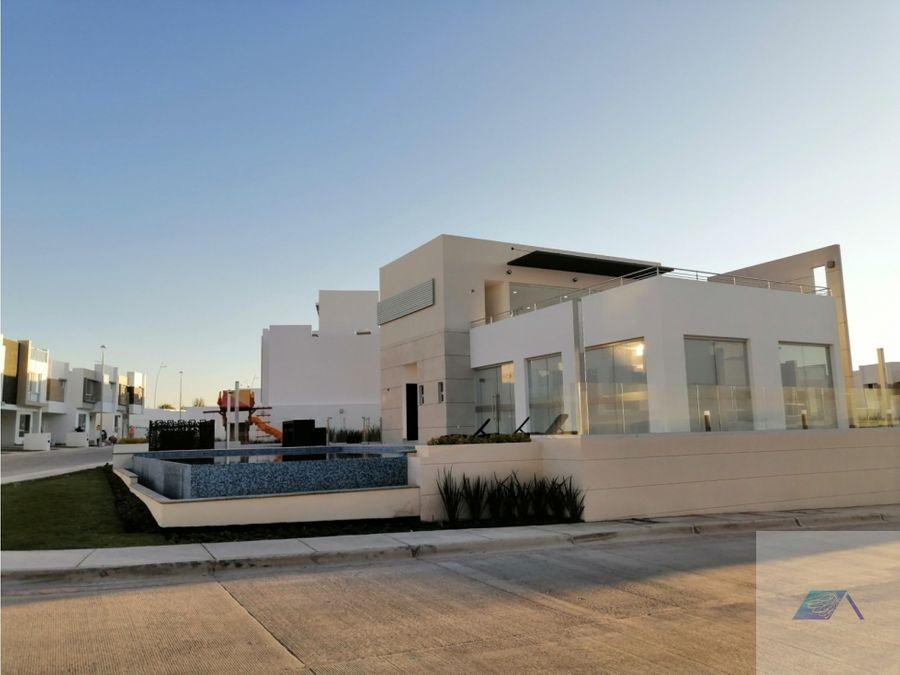 casa en venta con roof garden en zakia el marques queretaro gvm