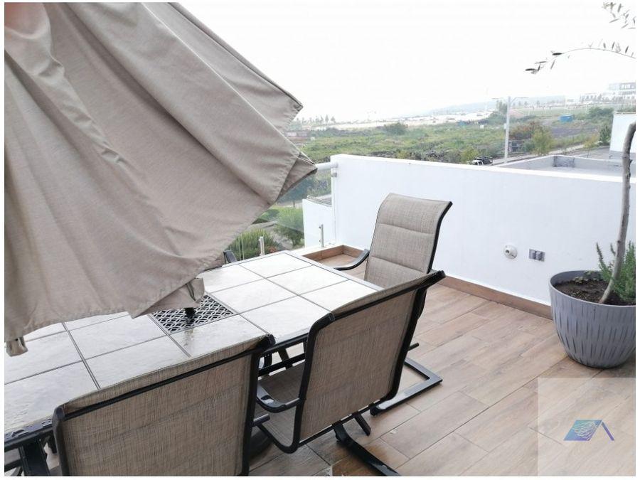 casa en venta con roof garden en zibata el marques queretaro grh