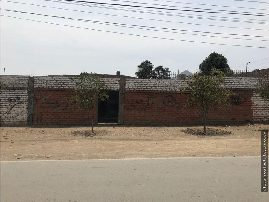 casa como terreno en venta urb el club ii etapa huachipa