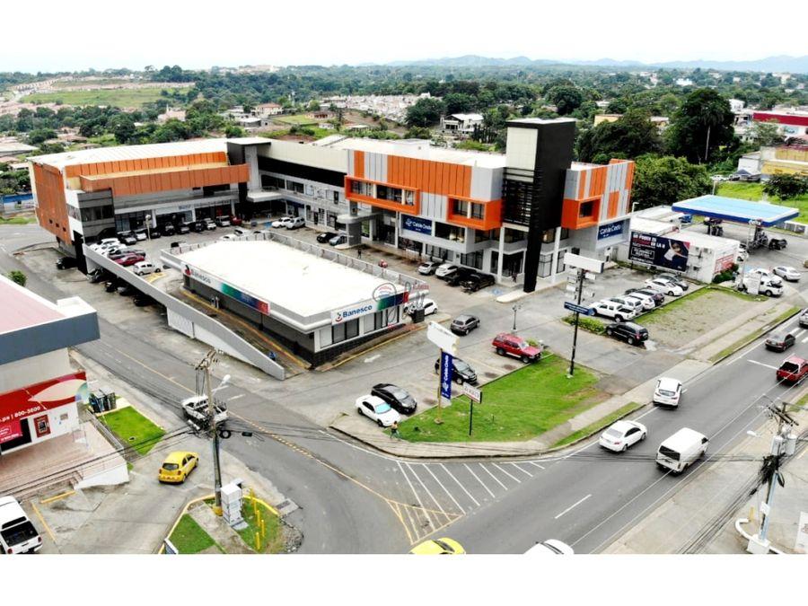 amplio local con linea de gas en plaza comercial en la chorrera
