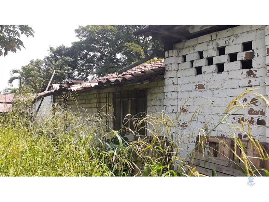 venta de casa lote zaragoza doble calzada cartago valle