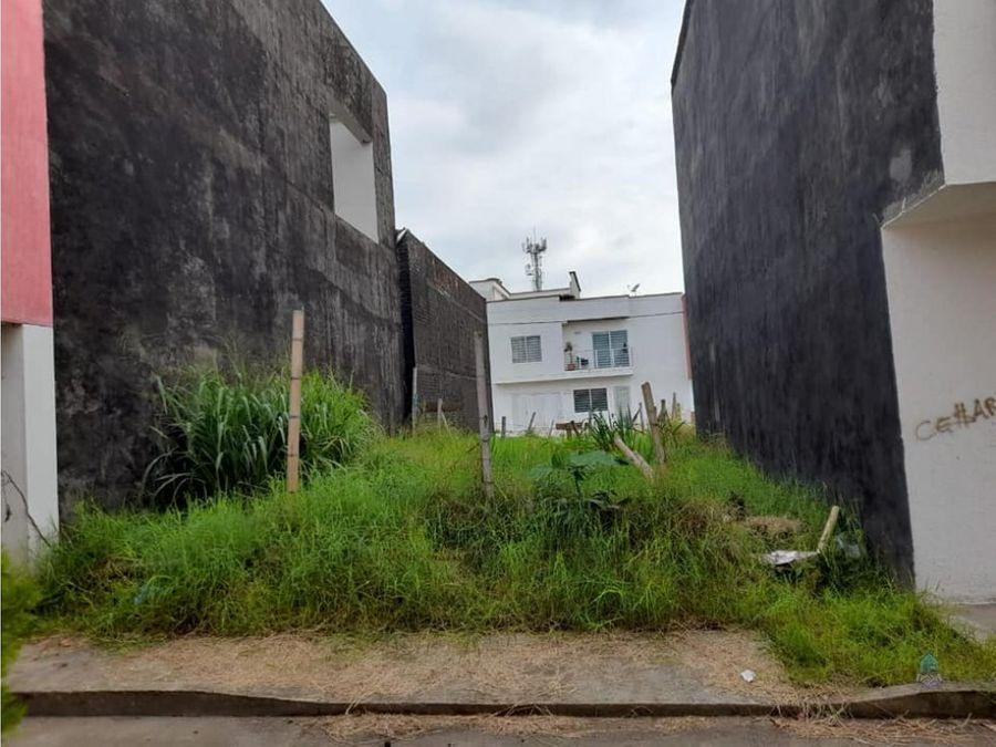 venta de lote urbano jardines de santa maria cartago valle
