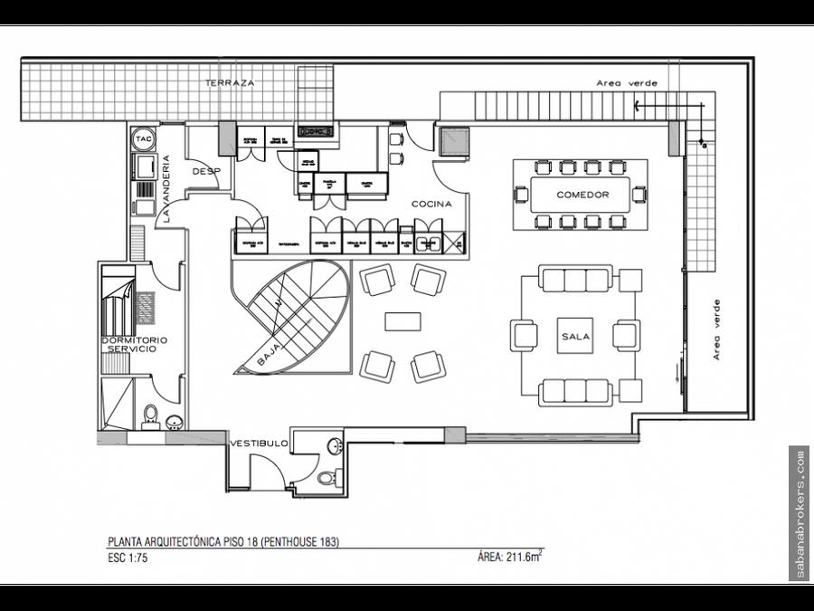 triplex penthouse sabana central ac