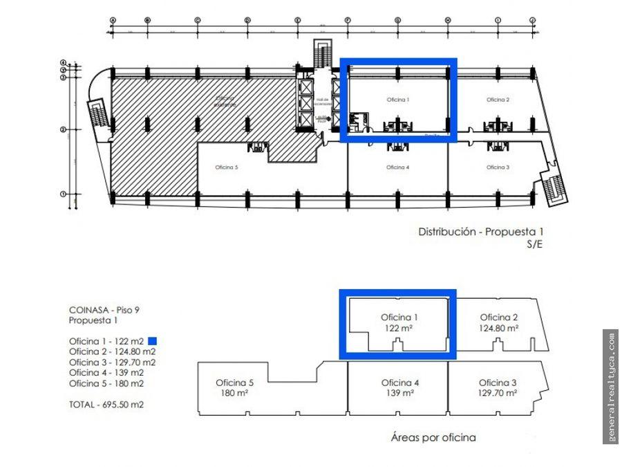oficina en alquiler la castellana 122 m2