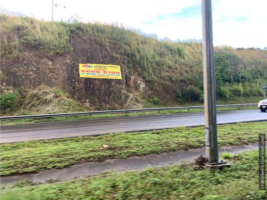 terreno en la carretera 27 escazu santa ana atencion desarrolladores