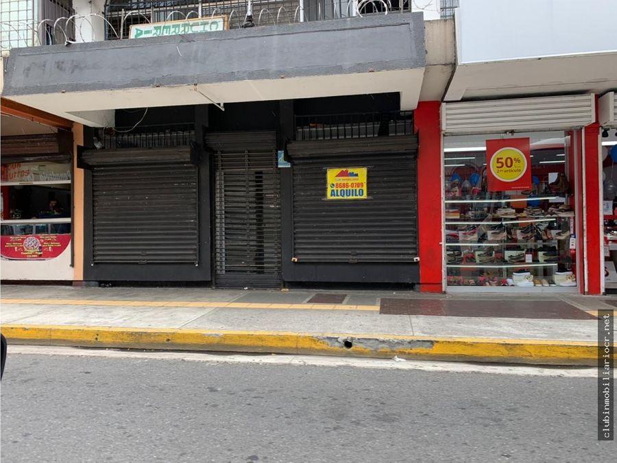 oferta se alquila local sobre avcentral en san jose centro