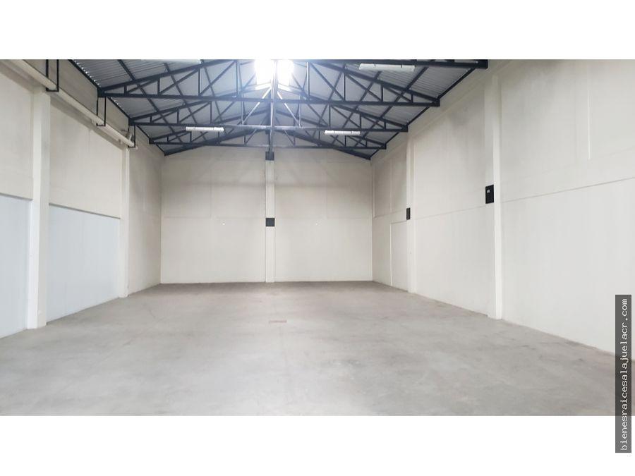 alquiler de bodega cercana al coyol de alajuela 400 m2 2800