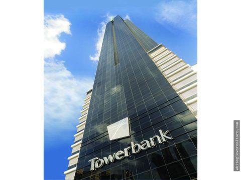 alquilo hermosa oficina en tower bank