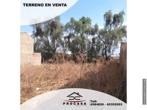 786 m2 lote av melchor perez zona chimba