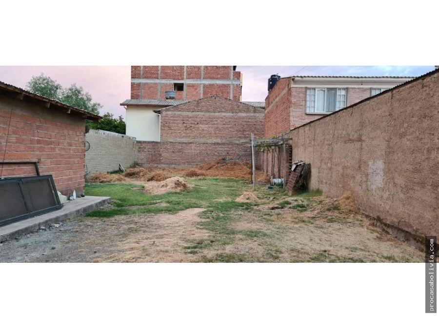 lote av tadeo haenke calle chiriguano 363 m2