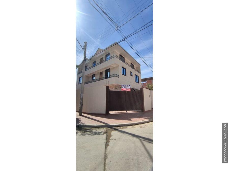 casa en venta inmediaciones av fuerza aerea calle isiboro