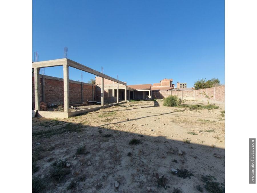 oportunidad terreno 3 cuadras de la plaza de colcapirhua