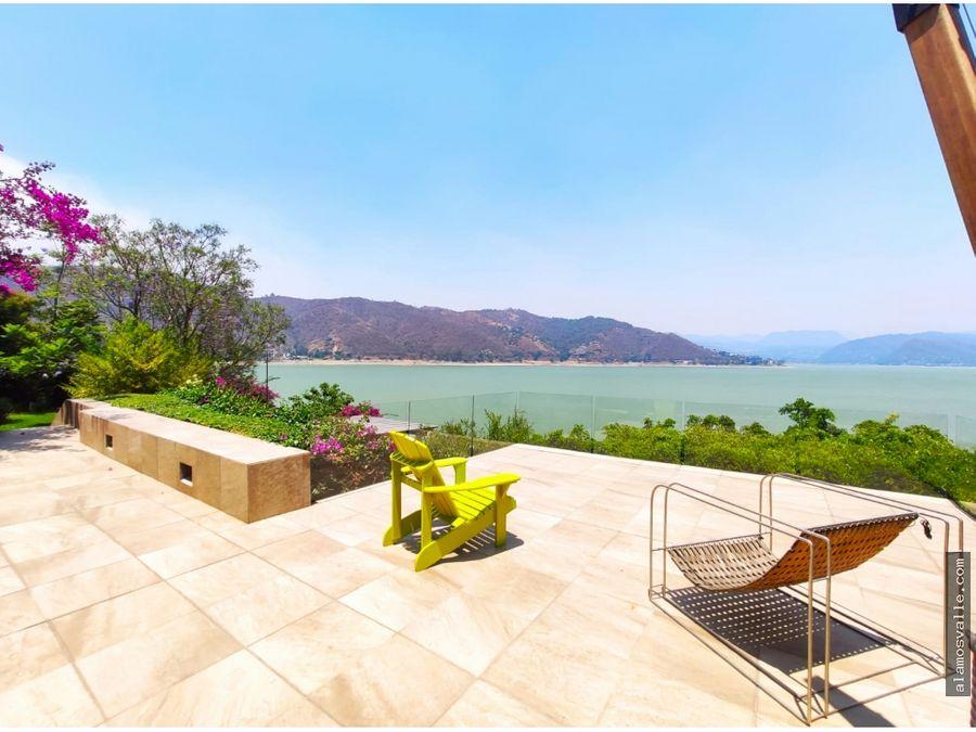 casa en renta con vista y acceso al lago