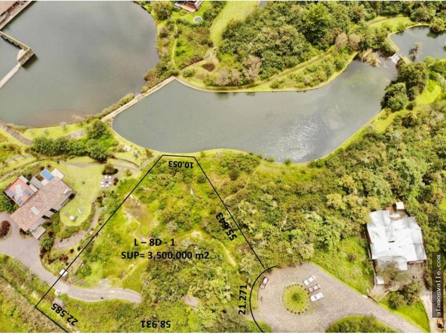 terreno con acceso al lago valle santana