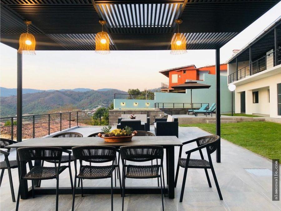 casa renta vista al lago valle de bravo