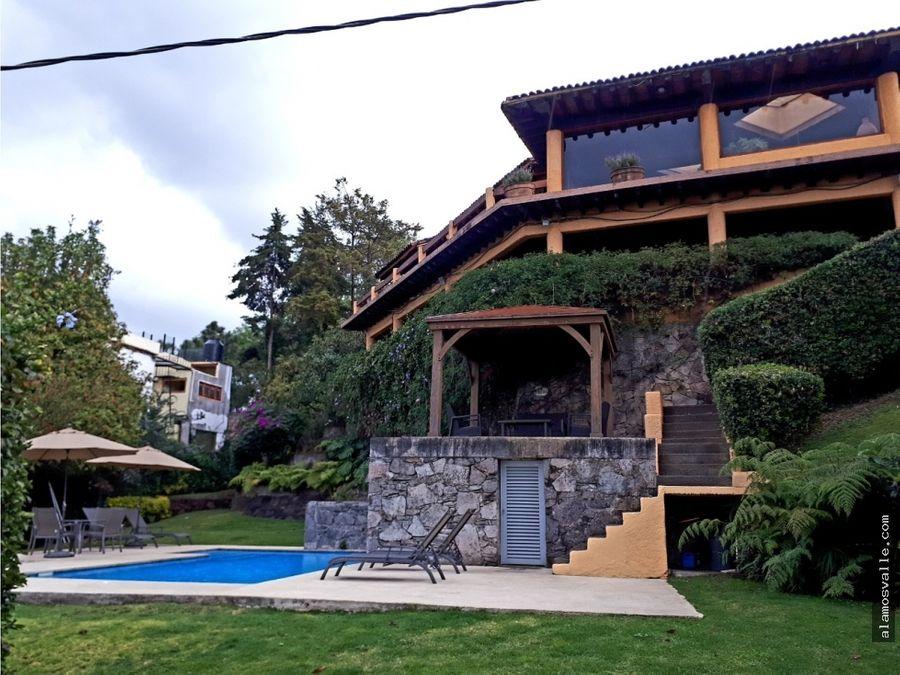 casa en renta compartida en valle de bravo con vista al lago