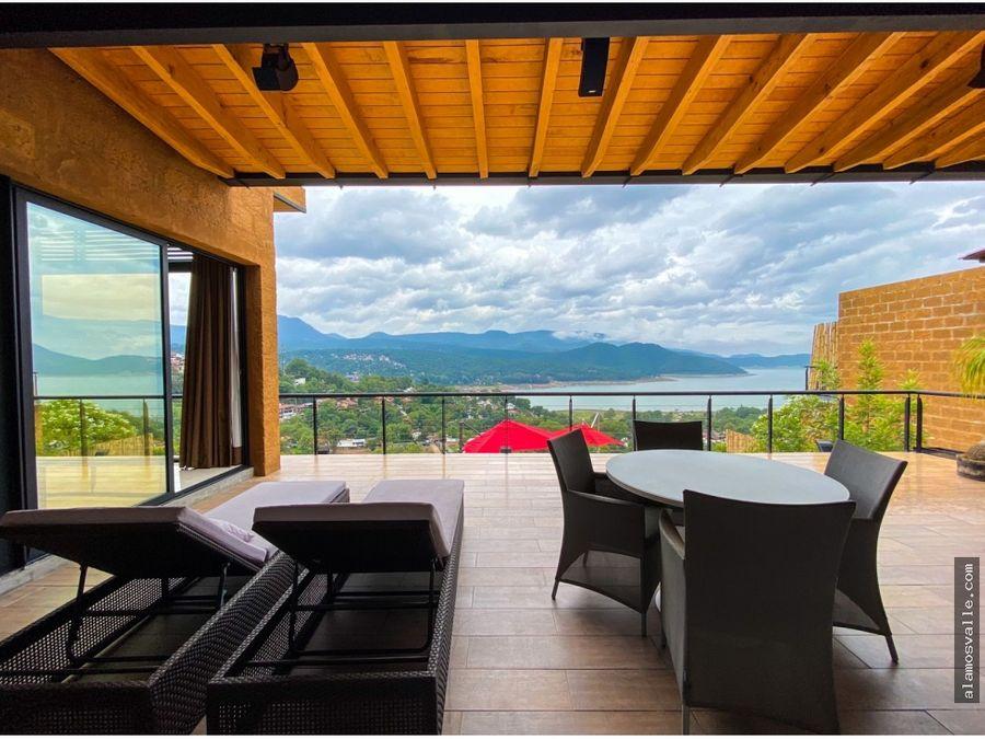casa en renta con vista al lago