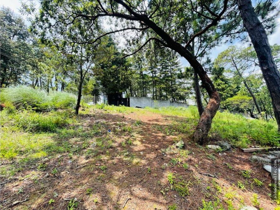 terreno con vista y acceso al lago avandaro