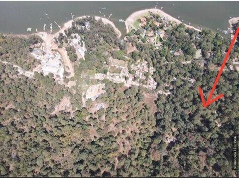 terreno avandaro vista parcial al lago comunal