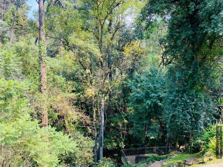 casa en avandaro con bosque y rio