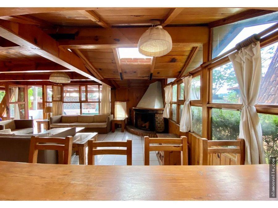 cabana en avandaro con vista al lago