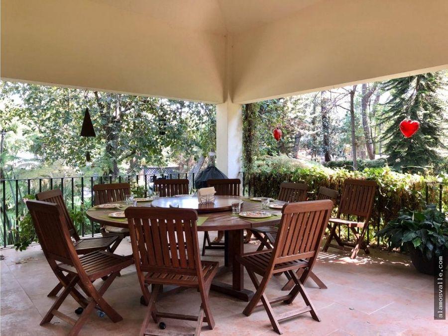 avandaro casa en renta en medio de jardines