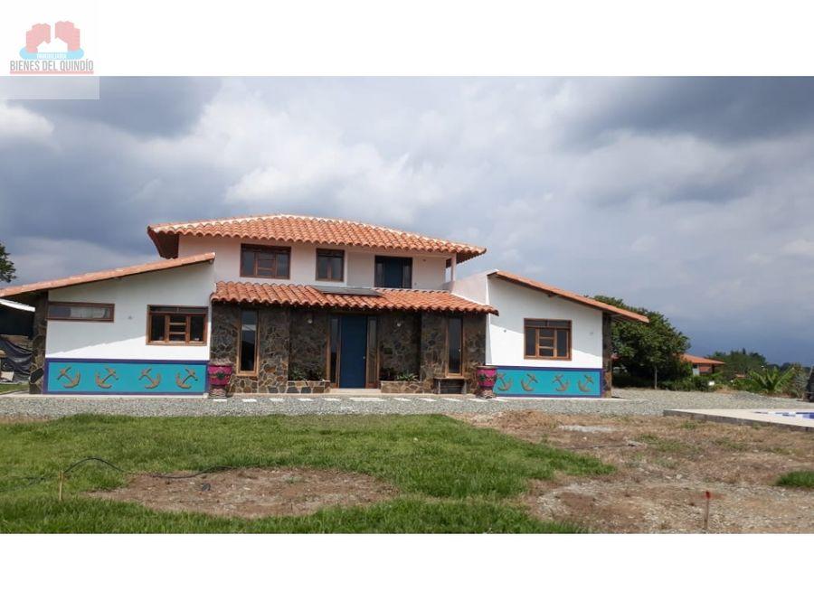 se vende casa campestre en montengro quindio colombia