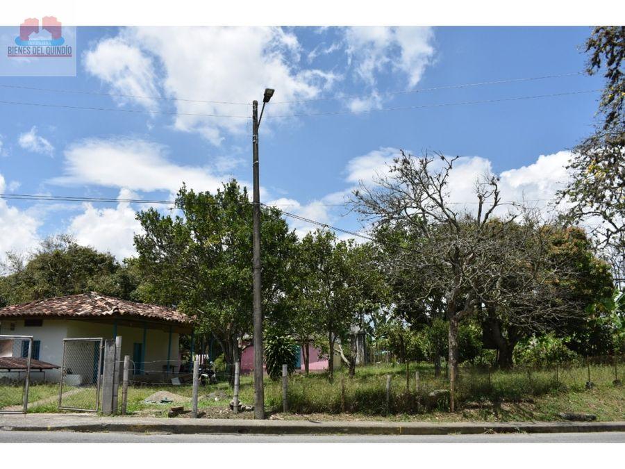 se vende lote en quimbaya quindio colombia