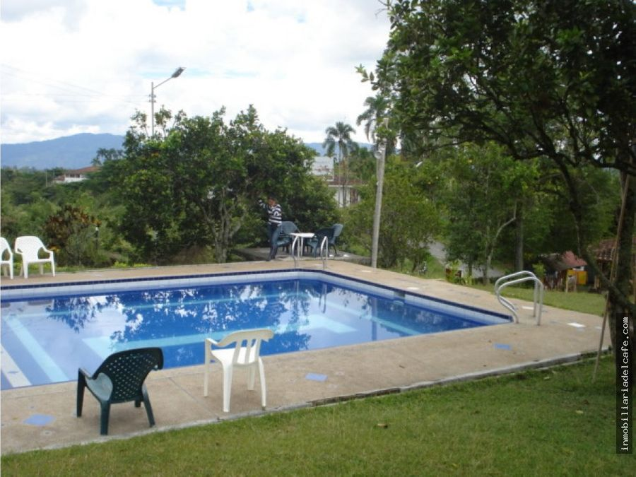 venta finca hotel en quimbaya quindio