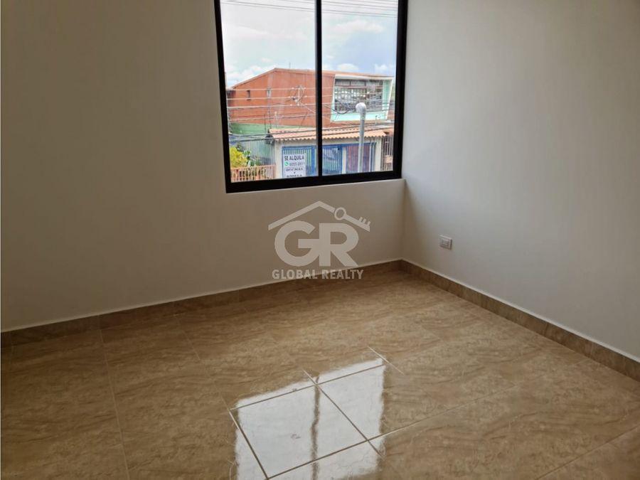se vende apartamento nuevo de dos plantas guadalupe san jose
