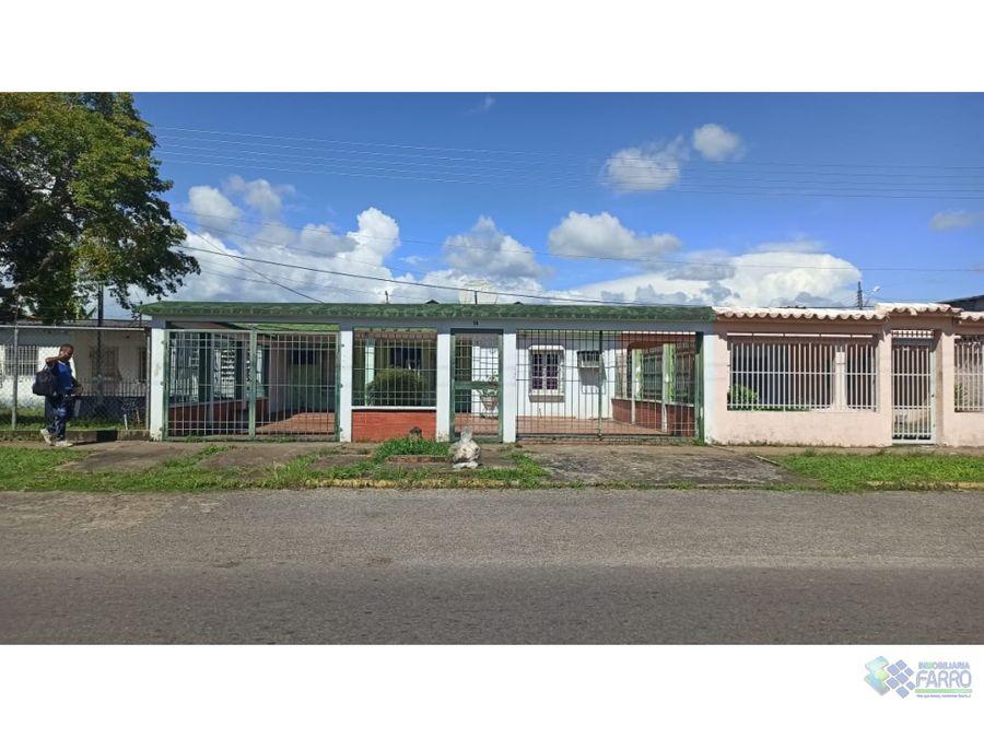 se vende casa en brisas del orinoco ve01 0918ao mf