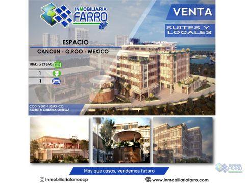 se vende suite y locales espacio puerto cancun mexico ve02 152mx co