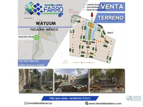 lotes residenciales wayuum en yucatan mexico ve02 154mx nr