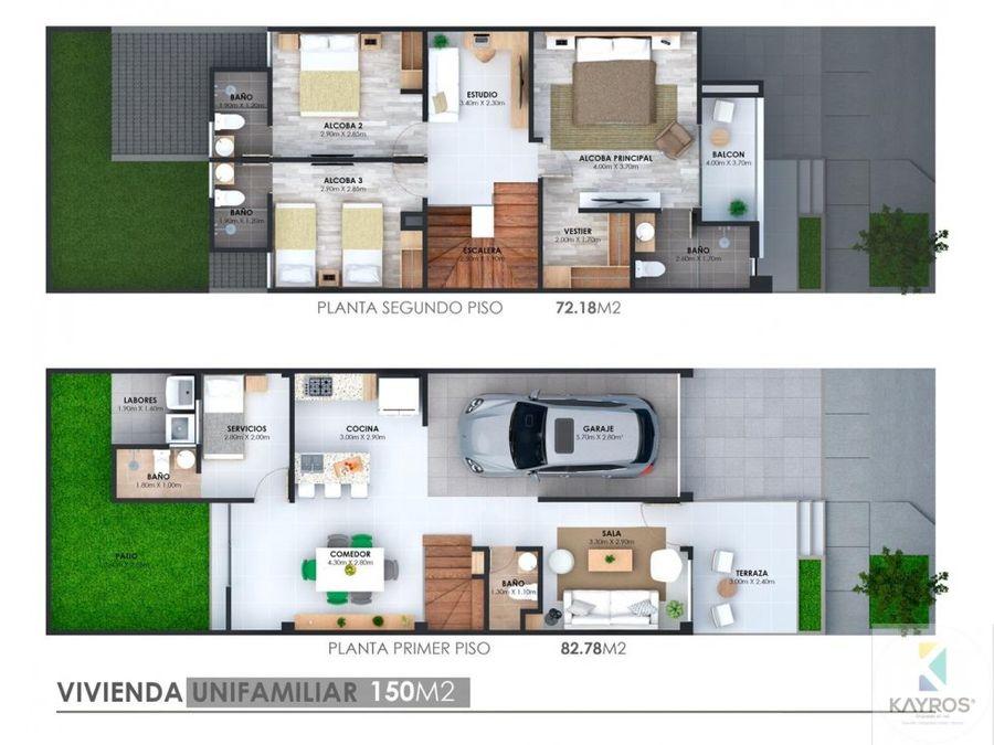 hermosas casas de dos pisos urb vecina monteverde