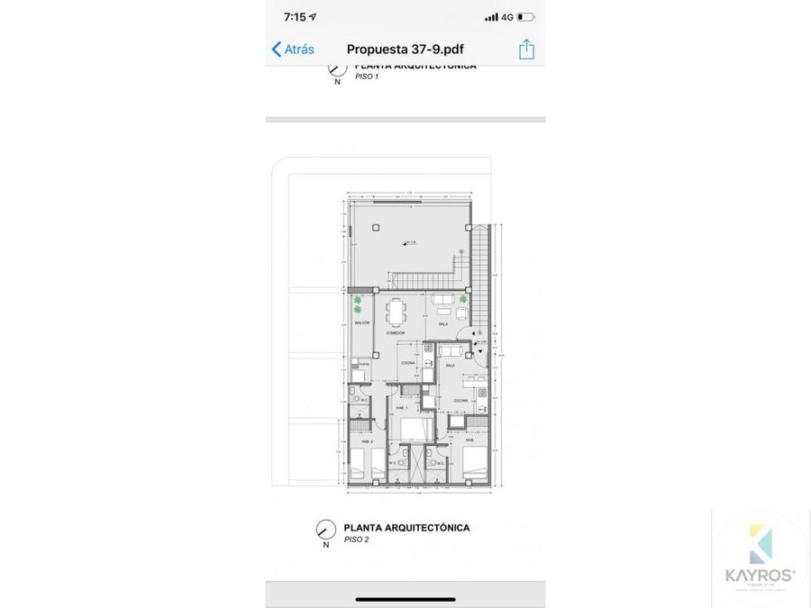 apartamento y apartaestudio en planos en el centro