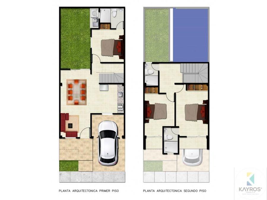 casa en sobre plano de 2 pisos en vallejo