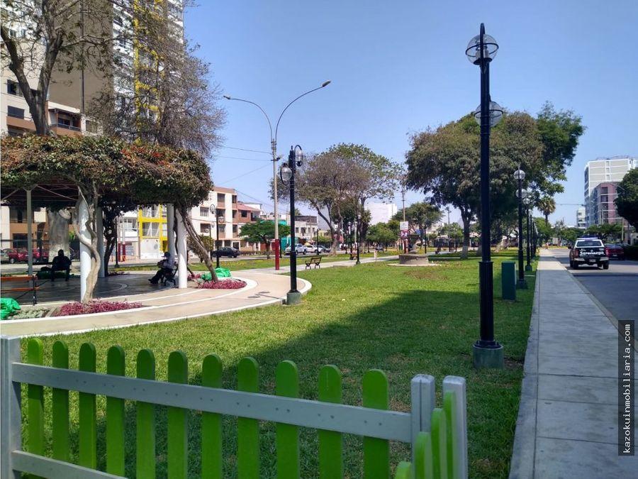 hermoso y amplio dpto frente al parque san martin pueblo libre